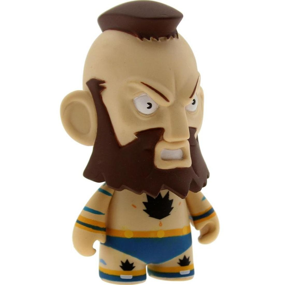 Kidrobot Street Fighter 3 Inch Mini Series Zangief Figure - 1/20 Ratio (blue)