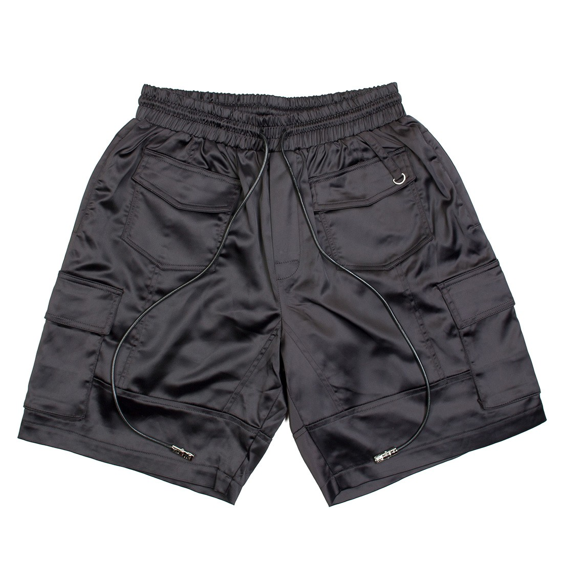 Lifted Anchors Men Digital Satin Cargo Shorts (black)