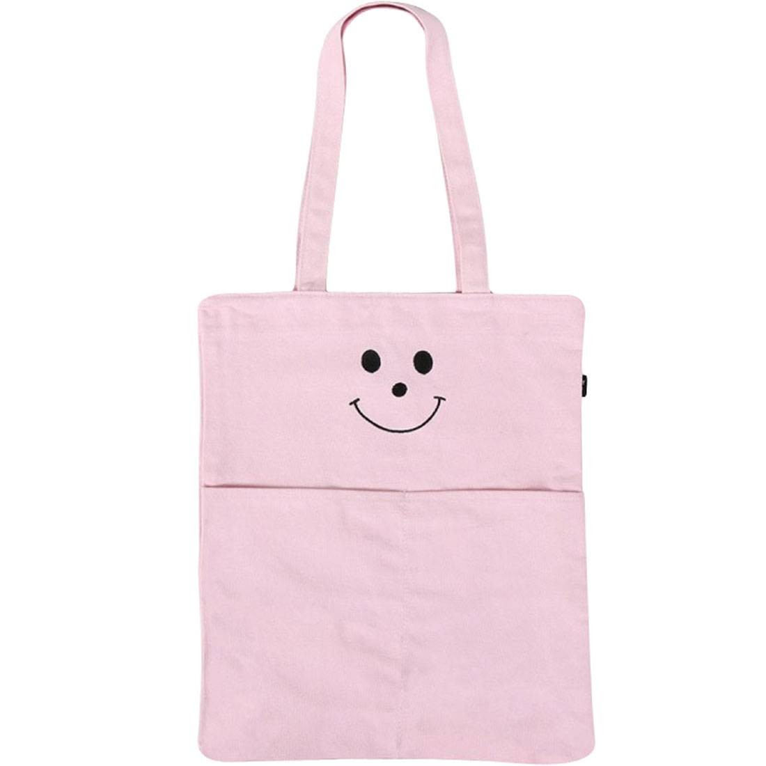Lazy Oaf Happy Face Tote Bag (pink)