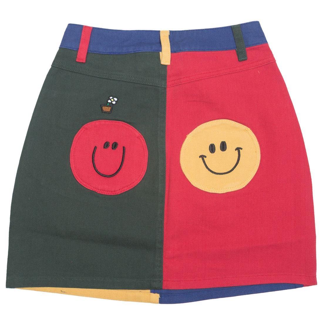 Lazy Oaf x Mr Men Women Mr Wrong Skirt (red / green)