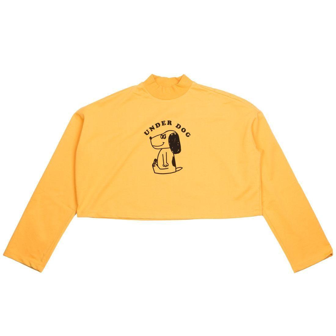 Lazy Oaf Women Underdog Long Sleeve Tee (yellow)