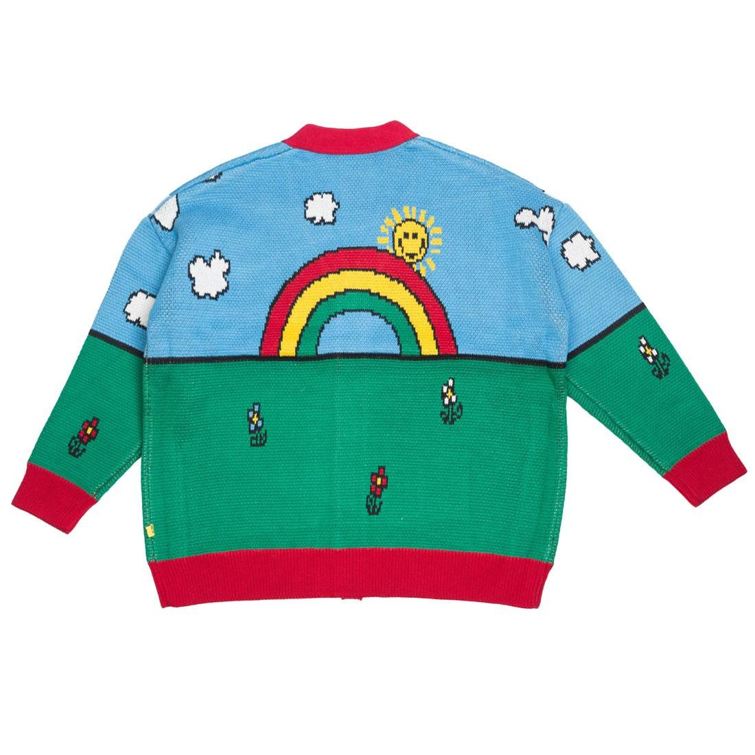 Lazy Oaf x Mr Men Women Water World Cardigan Sweater (blue)