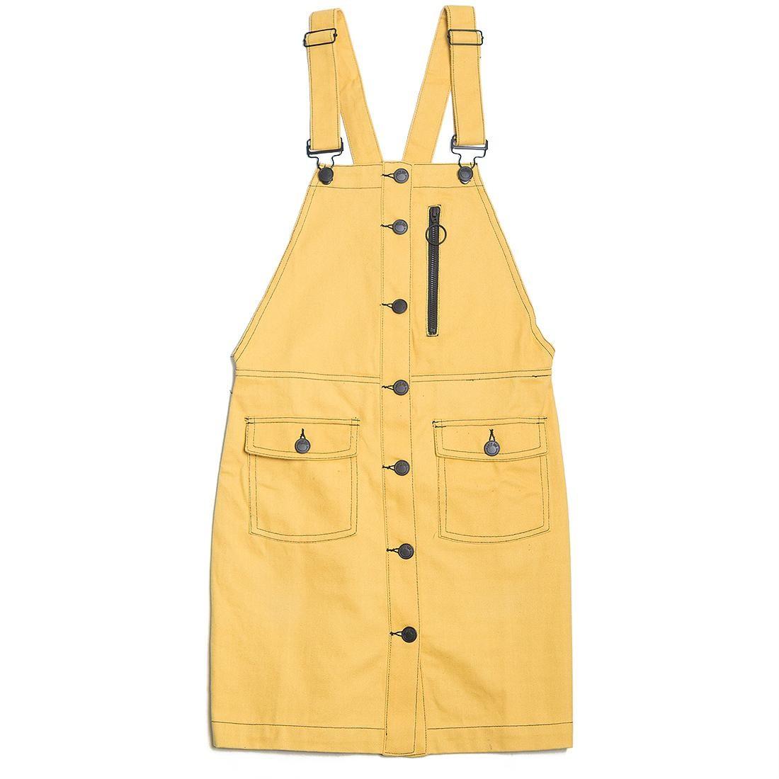 Lazy Oaf Women Yellow Pinafore Dress (yellow)