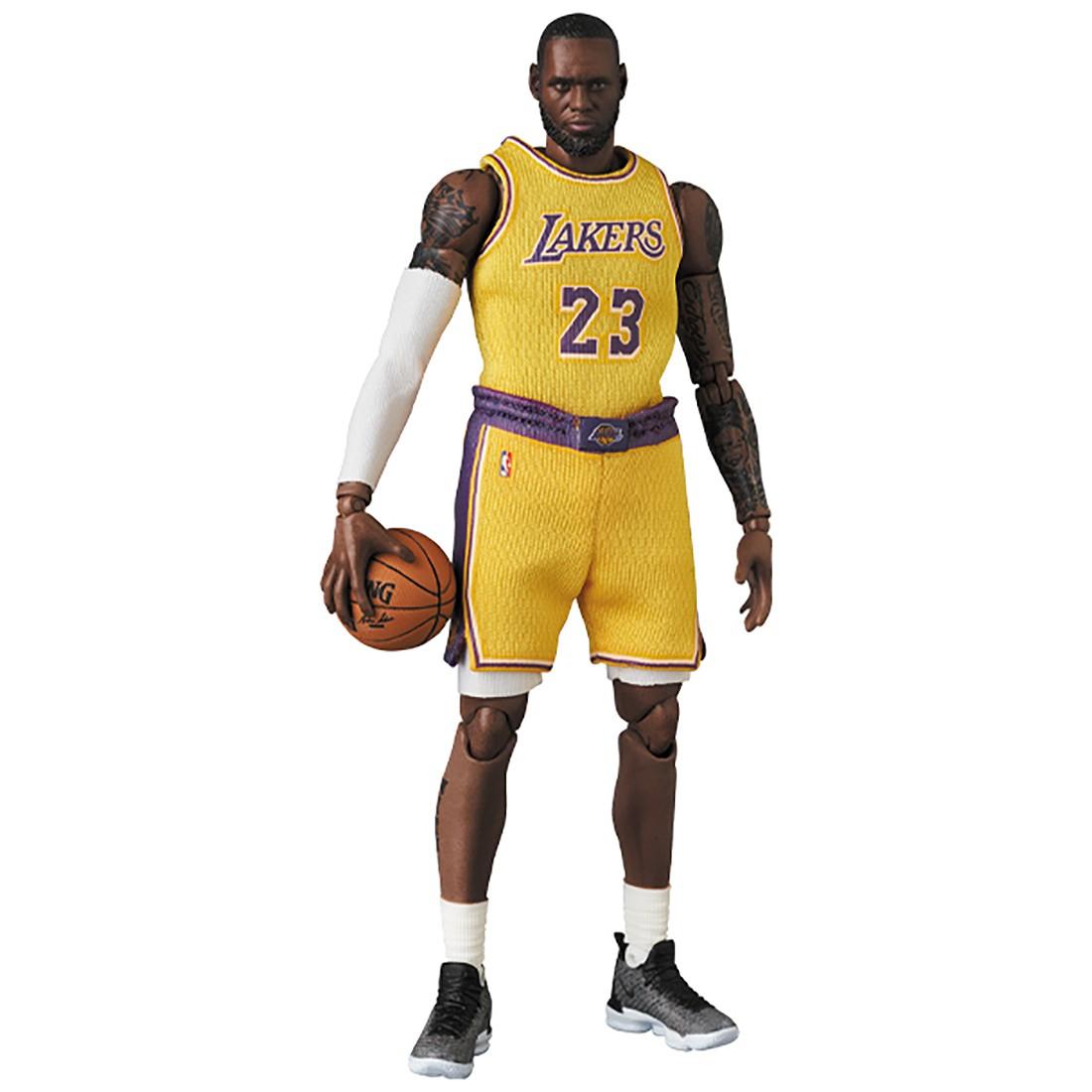 PREORDER - Medicom MAFEX NBA Los Angeles Lakers LeBron James Figure (yellow)