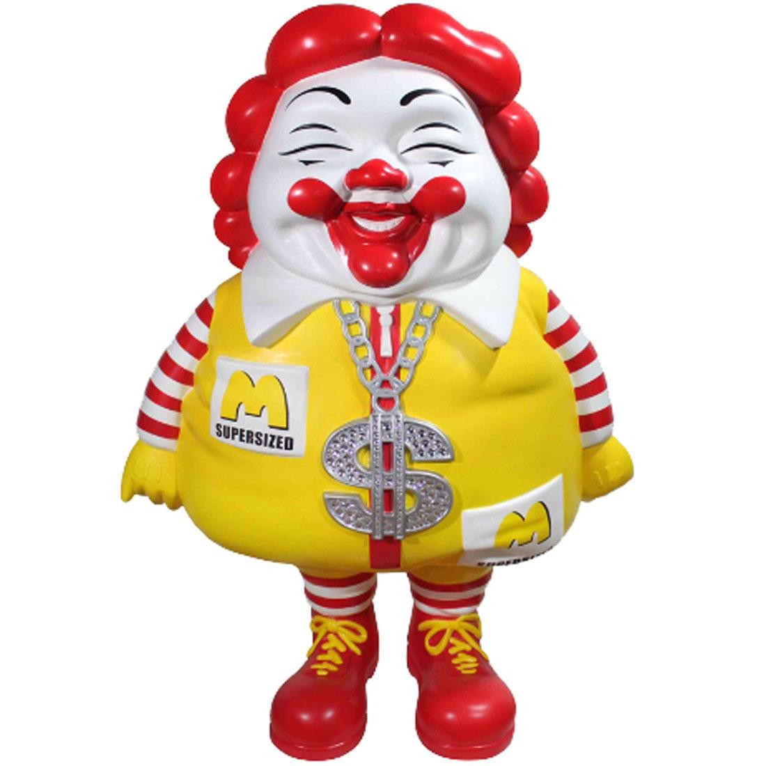 MINDstyle x Ron English McSupersized 4 Foot Statue (yellow / red)