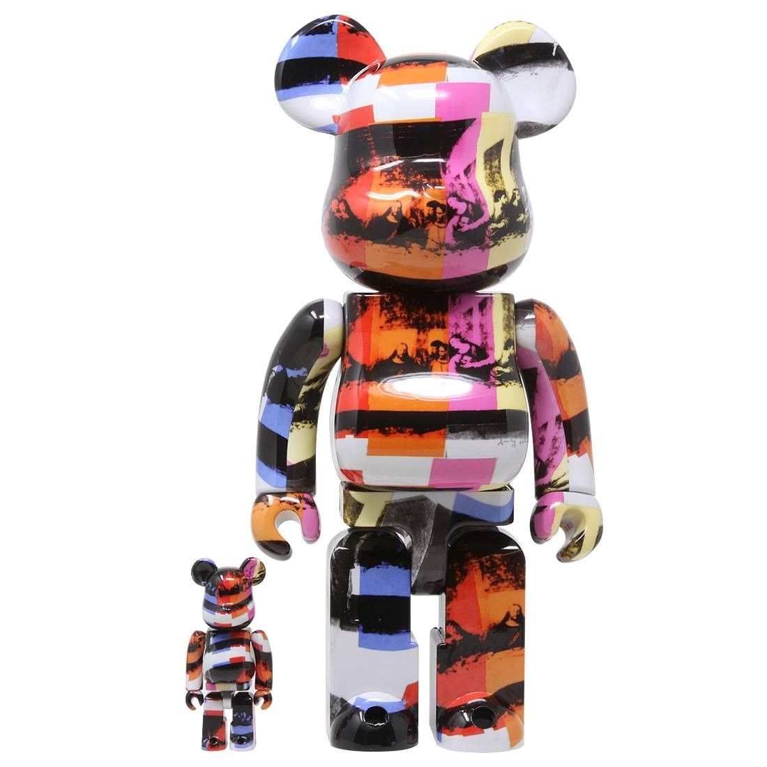 Medicom Andy Warhol The Last Supper 100% 400% Bearbrick Figure Set (multi)