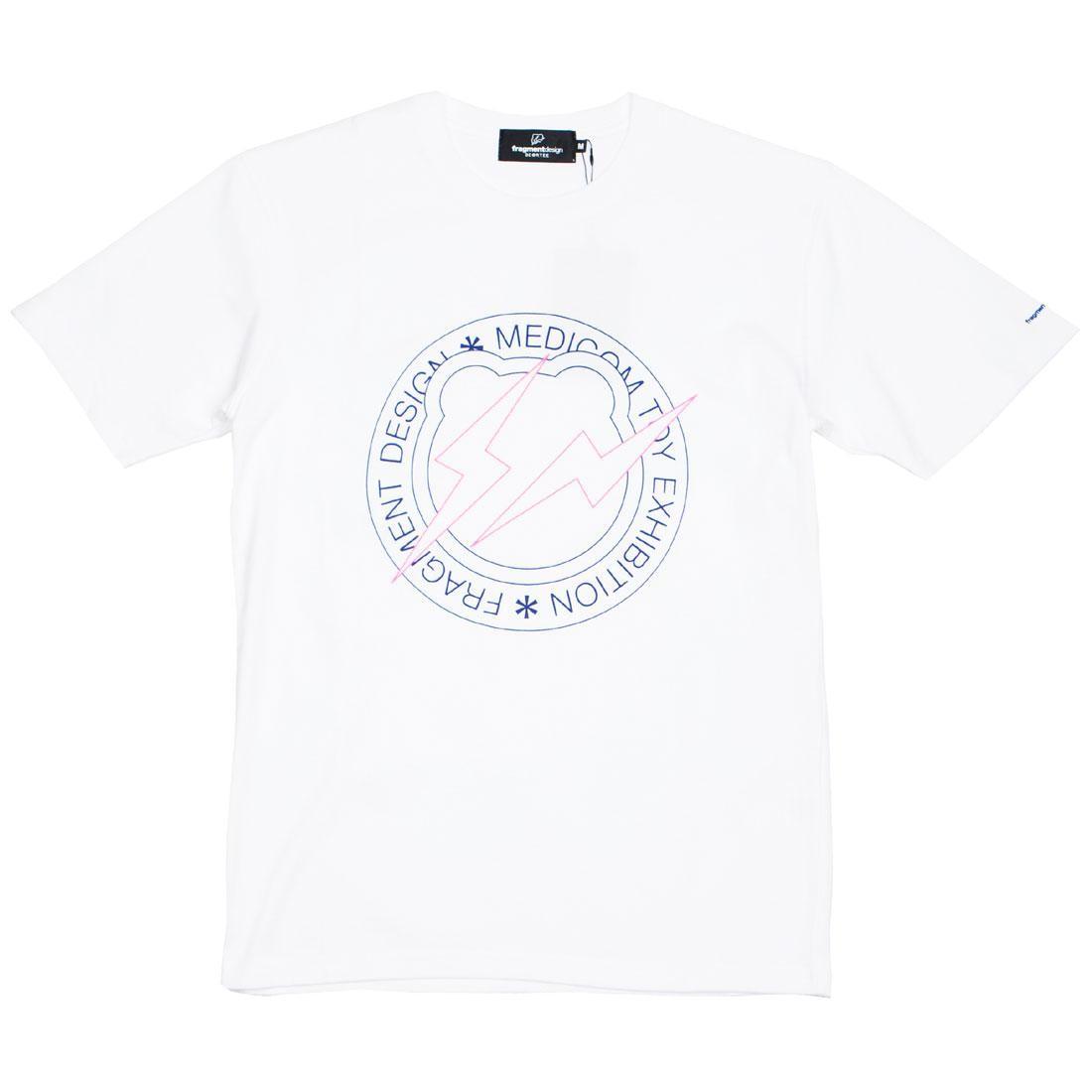 Medicom x Fragment Design Men Circle Logo Be@rtee Tee (white)