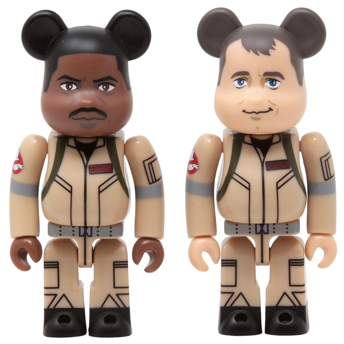 Medicom Ghostbusters Peter Venkman And Winston Zeddemor 100% 2 Pack Bearbrick Figure Set (tan)