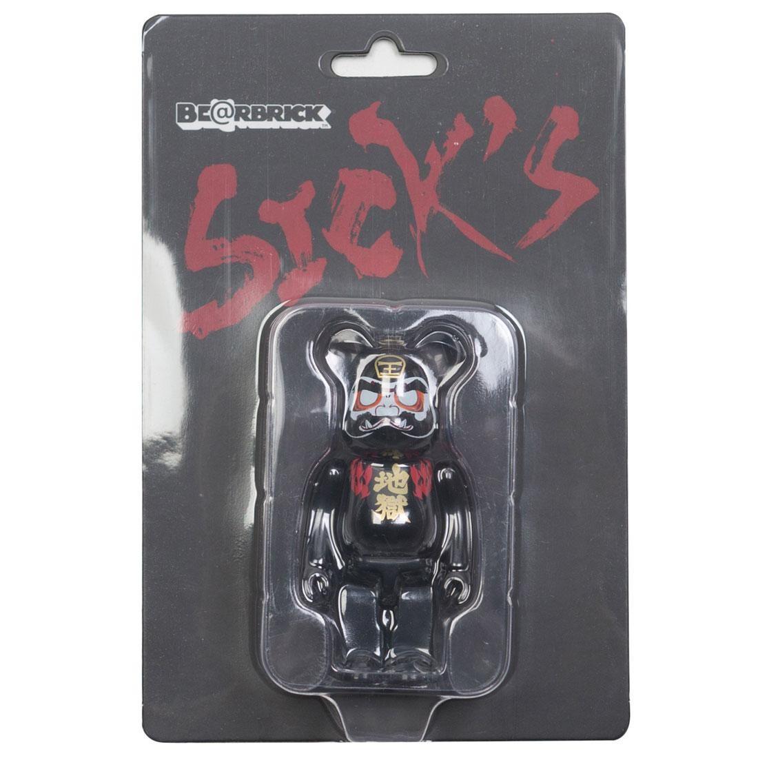 Medicom Sick Spec Saga Hell Daruma 100% Bearbrick Figure (black)