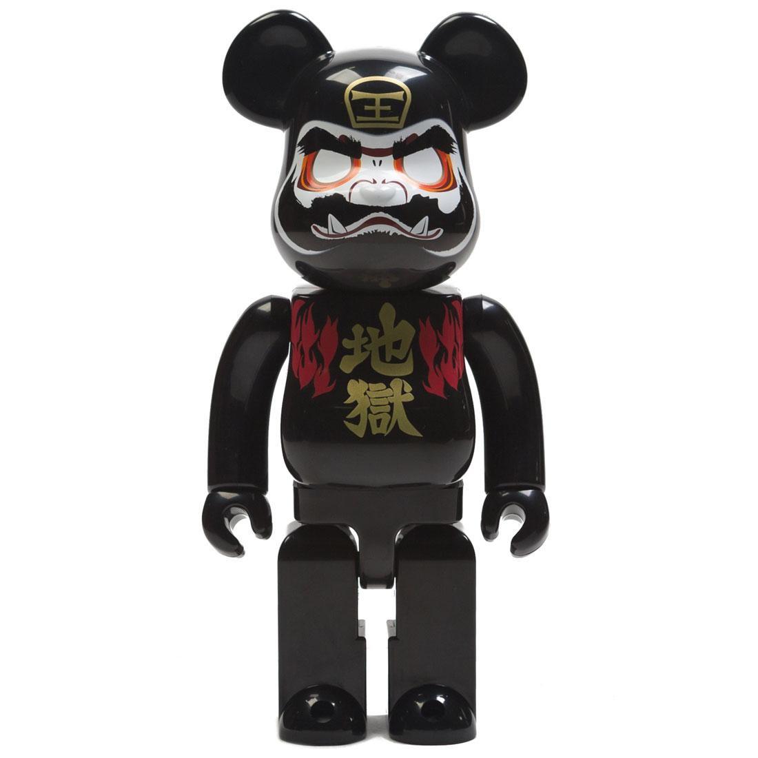 Medicom Sick Spec Saga Hell Daruma 400% Bearbrick Figure (black)
