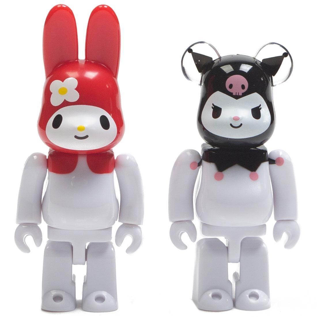 Medicom My Melody Red Ver. Rabbrick And Kuromi Bearbrick 100% Figure 2 Pack Set (white)