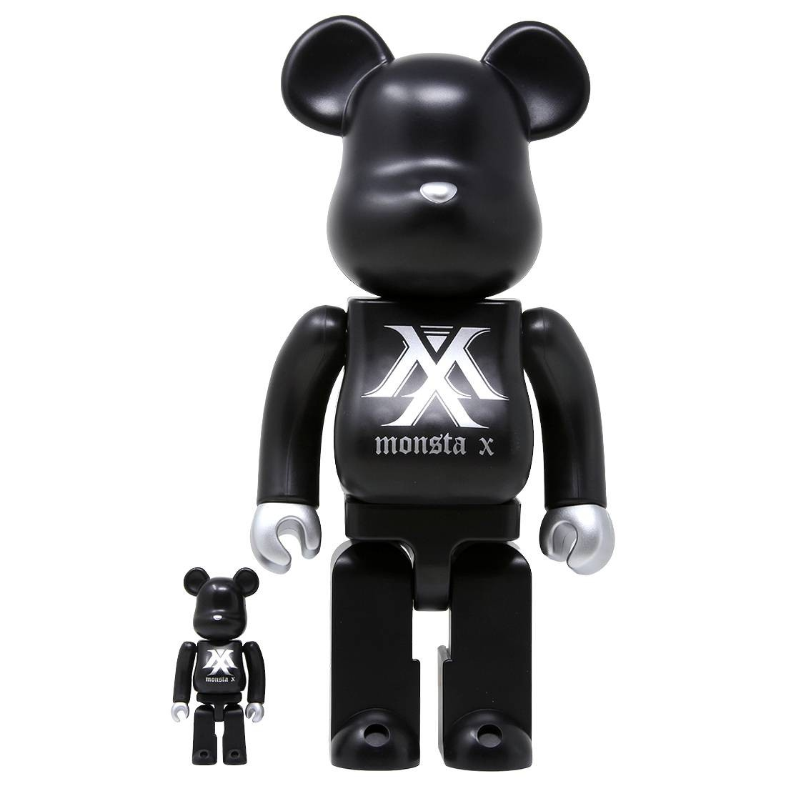 Medicom Monsta X 100% 400% Bearbrick Figure Set (black)