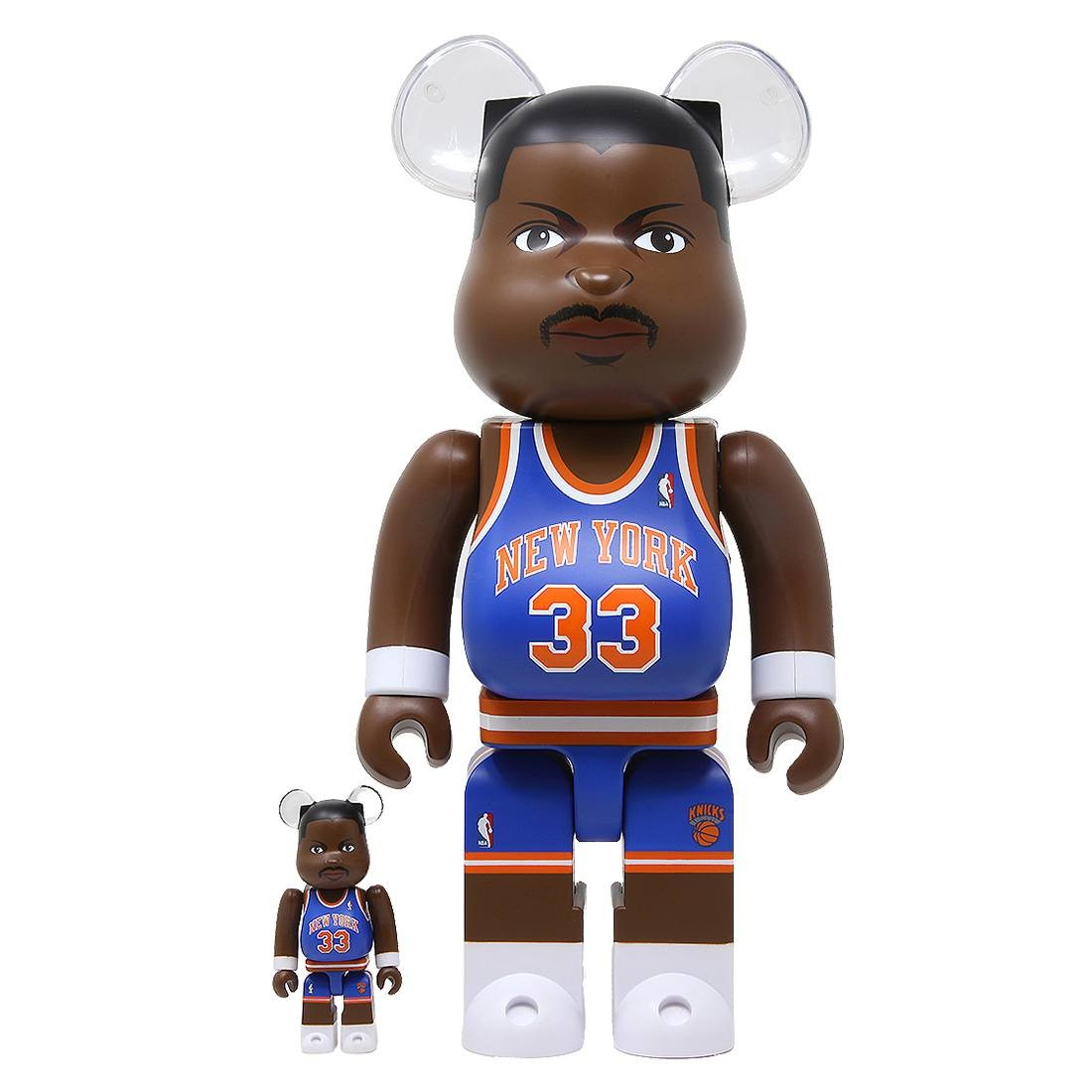 Medicom NBA New York Knicks Patrick Ewing 100% 400% Bearbrick Figure (blue)