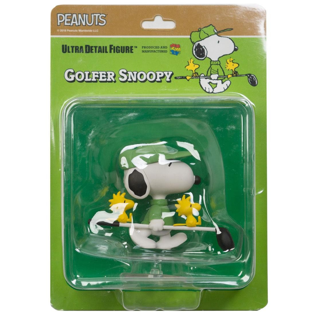 Medicom UDF Peanuts Series 8 Golfer Snoopy Ultra Detail Figure (green)