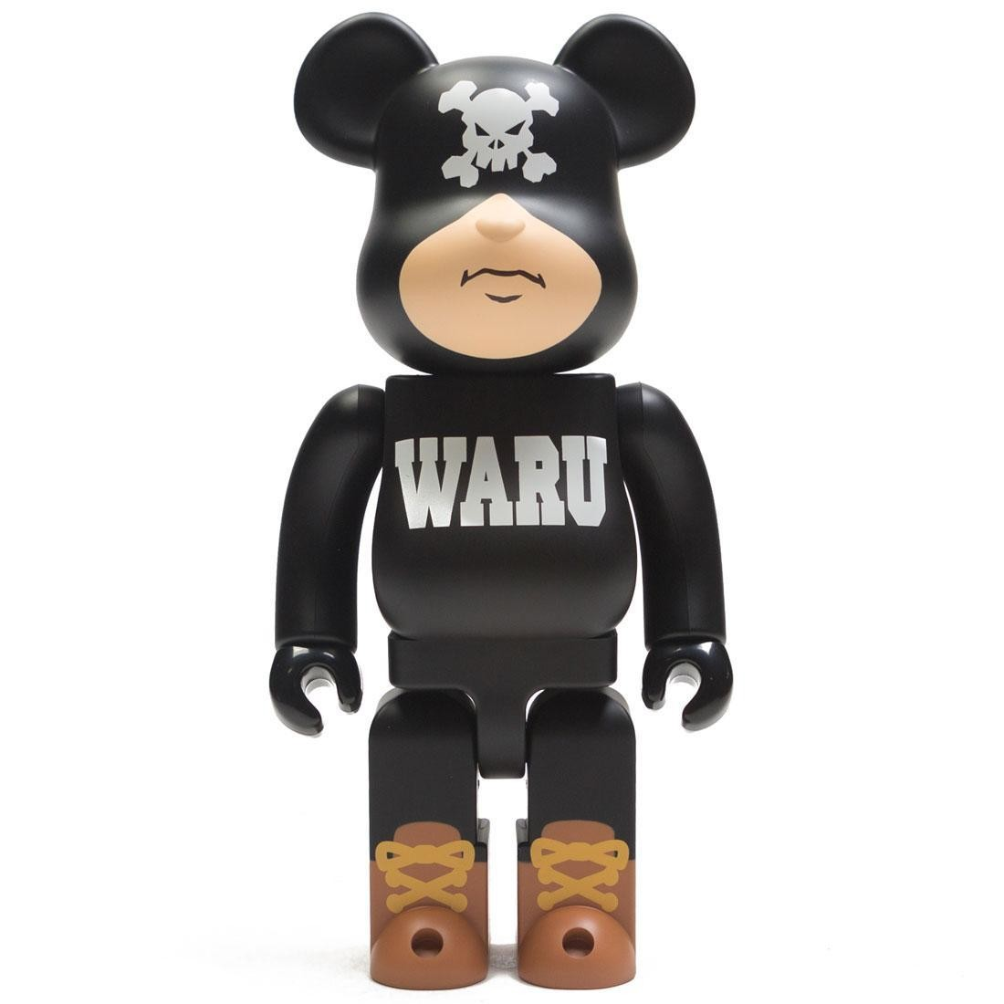 Medicom Santastic! Entertainment Tokyo Tribe Waru 400% Black Bearbrick Figure (black)