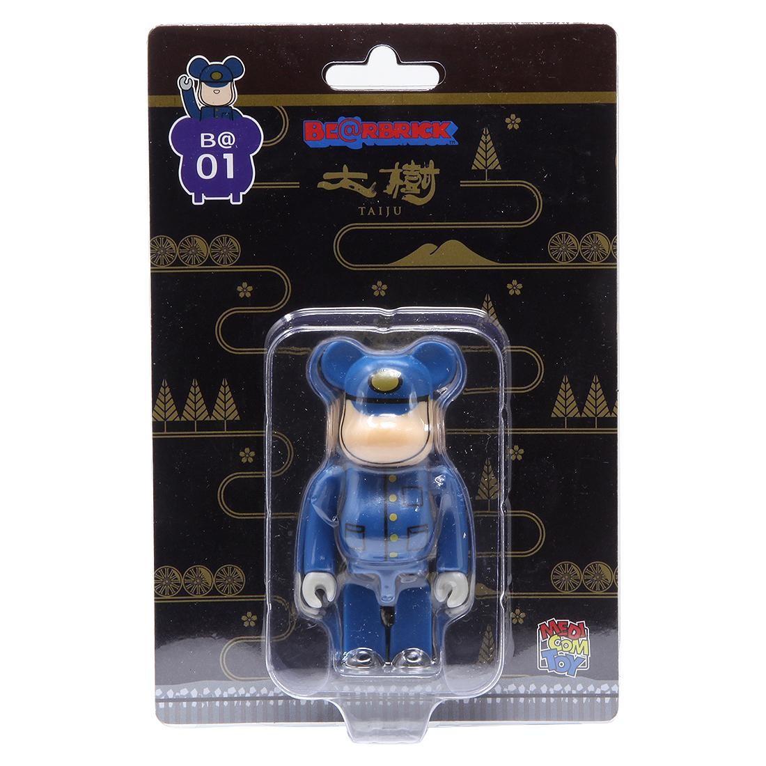 Medicom Tobu Railway SL Taiju Engineer 100% Bearbrick Figure (blue)