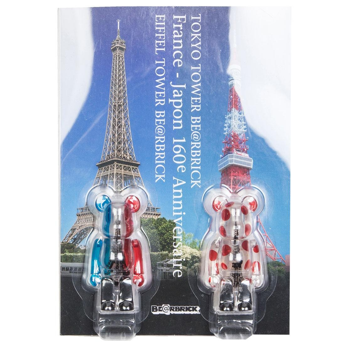 Medicom Tokyo Tower And Eiffel Tower 100% Bearbrick Twin Tower Pack Figures (white / red)