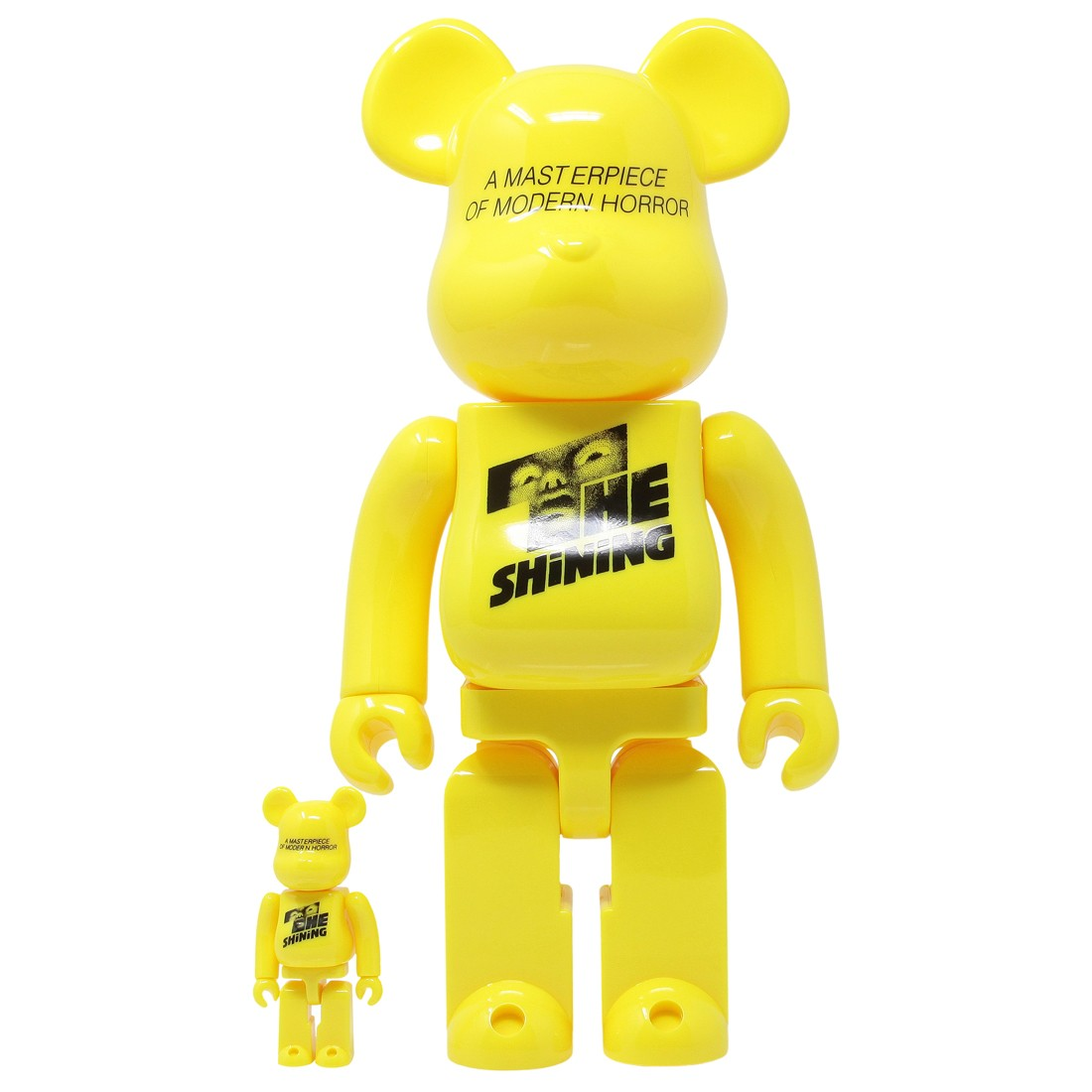Medicom Stanley Kubrick The Shining Poster Ver. 100% 400% Bearbrick Figure Set (yellow)