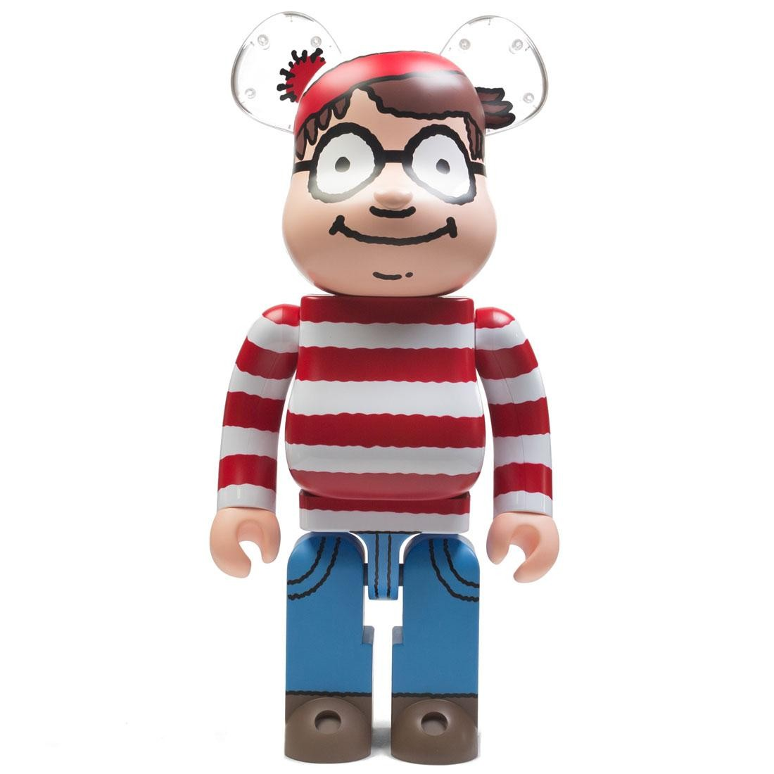 Medicom Where's Wally? Wally 1000% Bearbrick Figure (red)
