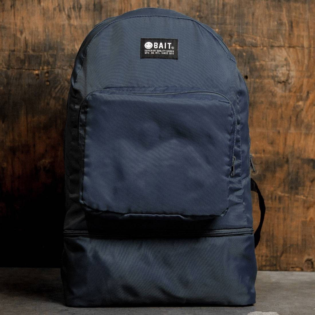BAIT Lightweight Packable And Detachable Sneaker Nylon Backpack (navy)
