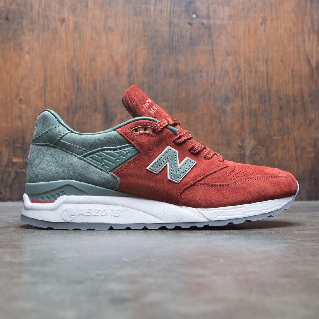 the best attitude a3a9b 5b740 New Balance x Concepts Men 998 City Rivals Boston M998BMG - Made In USA  (red / olive)