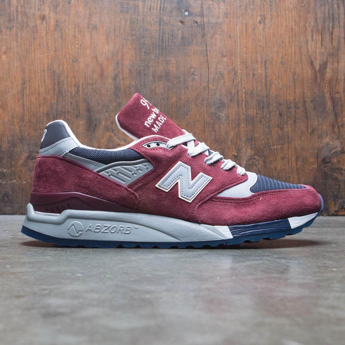 sneakers for cheap d1f0e 1af56 New Balance x J Crew Men 998 Port M998JB1 - Made In USA (burgundy / blue /  grey / white)