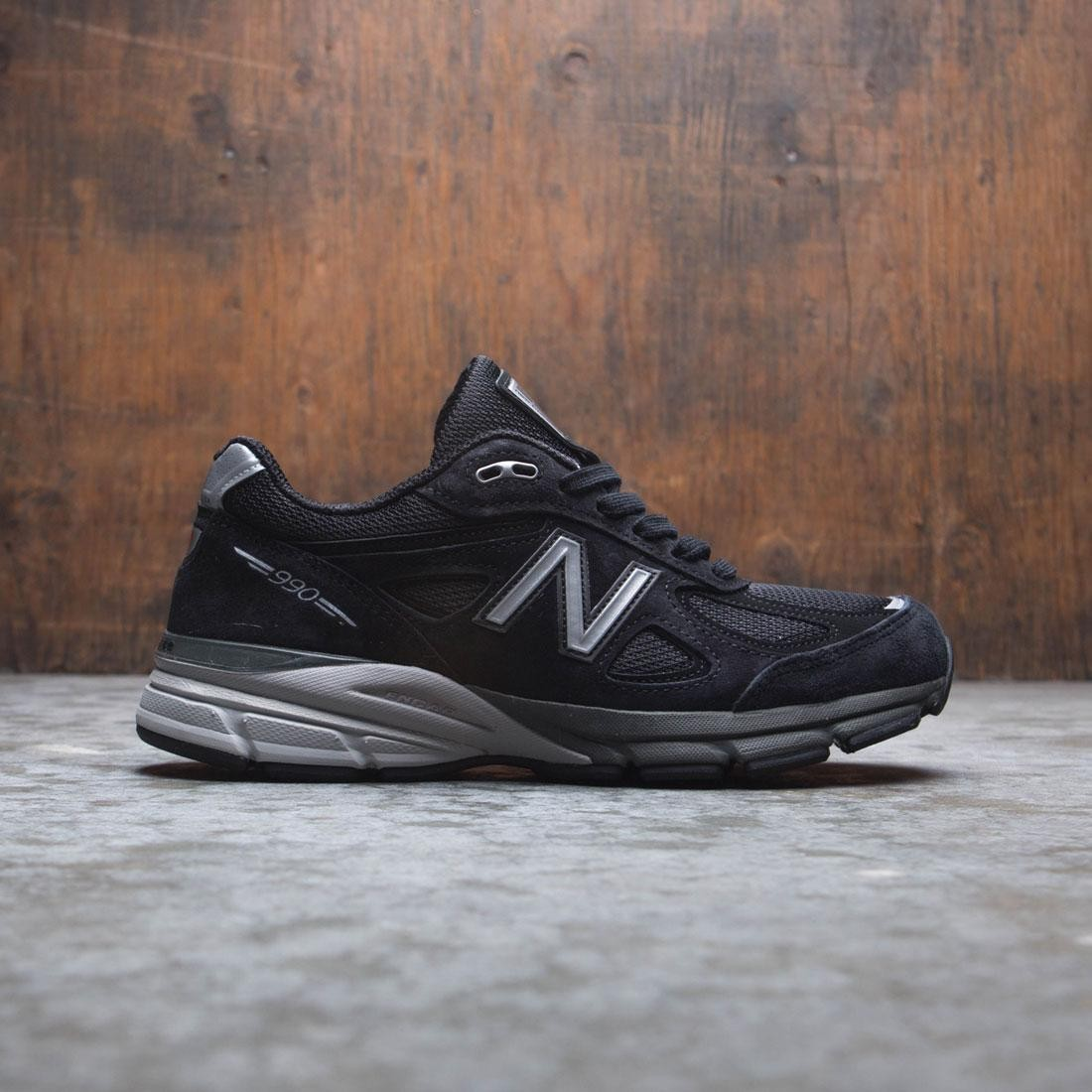 low priced d4dd1 3d86d New Balance Women 990v4 W990BK4 - Made In USA (black / silver)