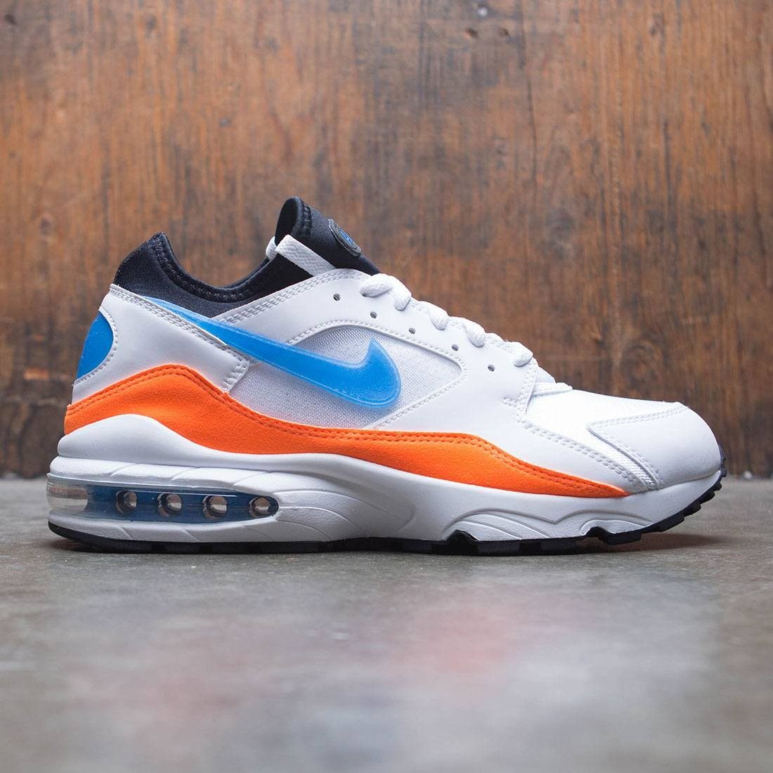 5d607390cba8 nike men air max  93 white blue nebula total orange black
