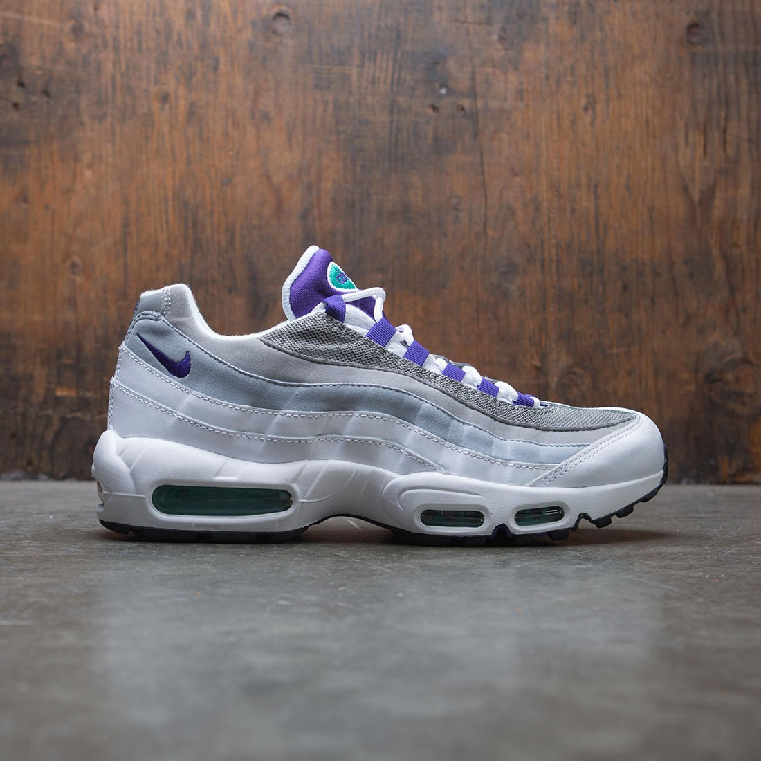 best sneakers b3305 fef0e ... wholesale nike women air max 95 white court purple emerald green f089f  1d417