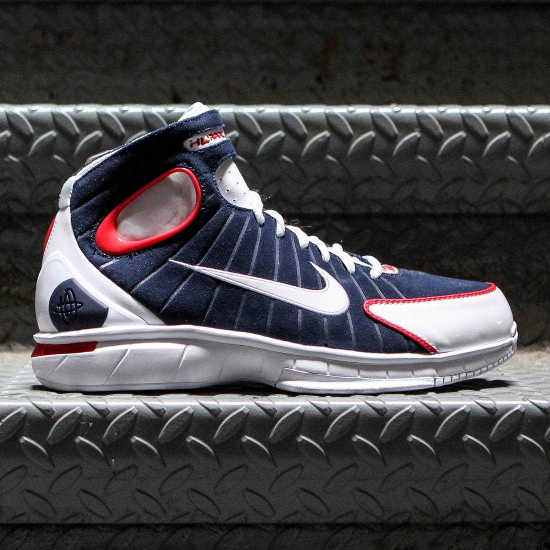 b78eaeb99dde ... inexpensive nike men air zoom huarache 2k4 midnight navy university red  white white 20167 f73c9