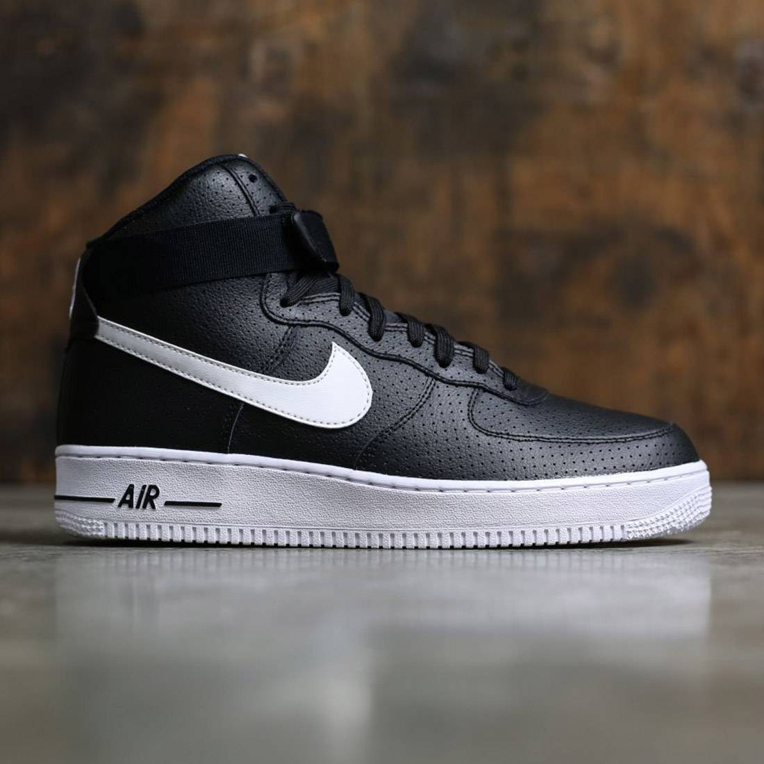 new product e4418 47155 Nike Men Air Force 1 High 07 (black   white-white)