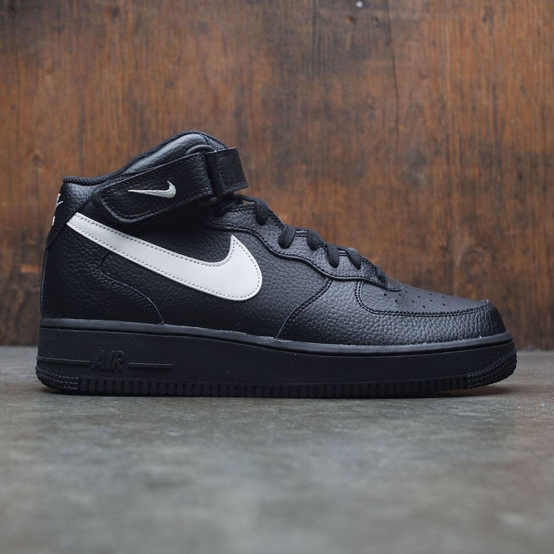 nike men air force 1 mid 07 black sail 500568694a