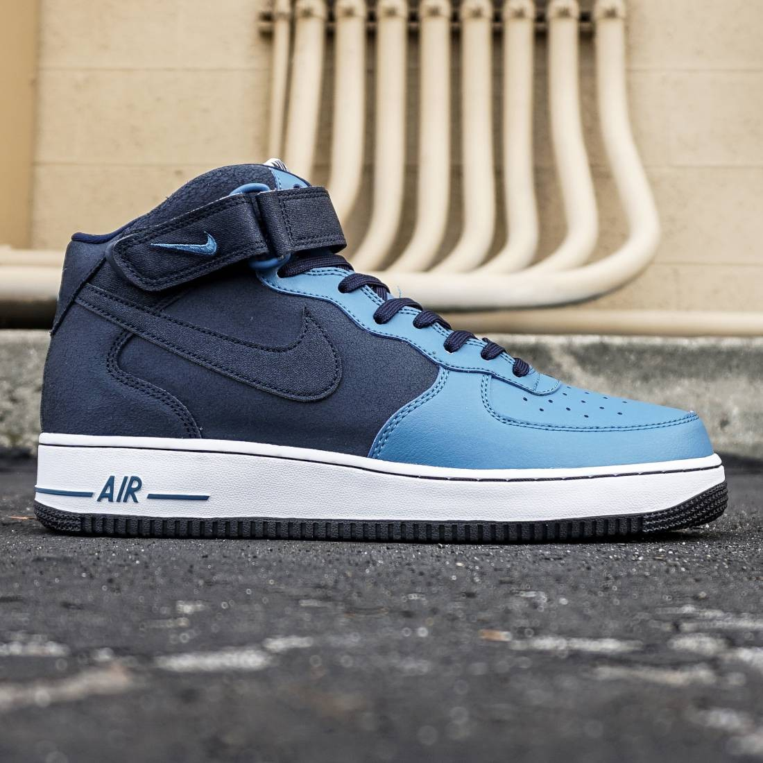 the best attitude f4091 9edcf Nike Men Air Force 1 Mid  07 (blue   obsidian   brigade blue   white)