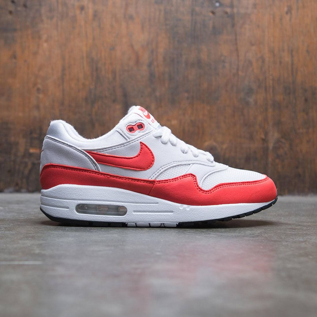 save off 931d2 a1cc5 nike women air max 1 vast grey habanero red