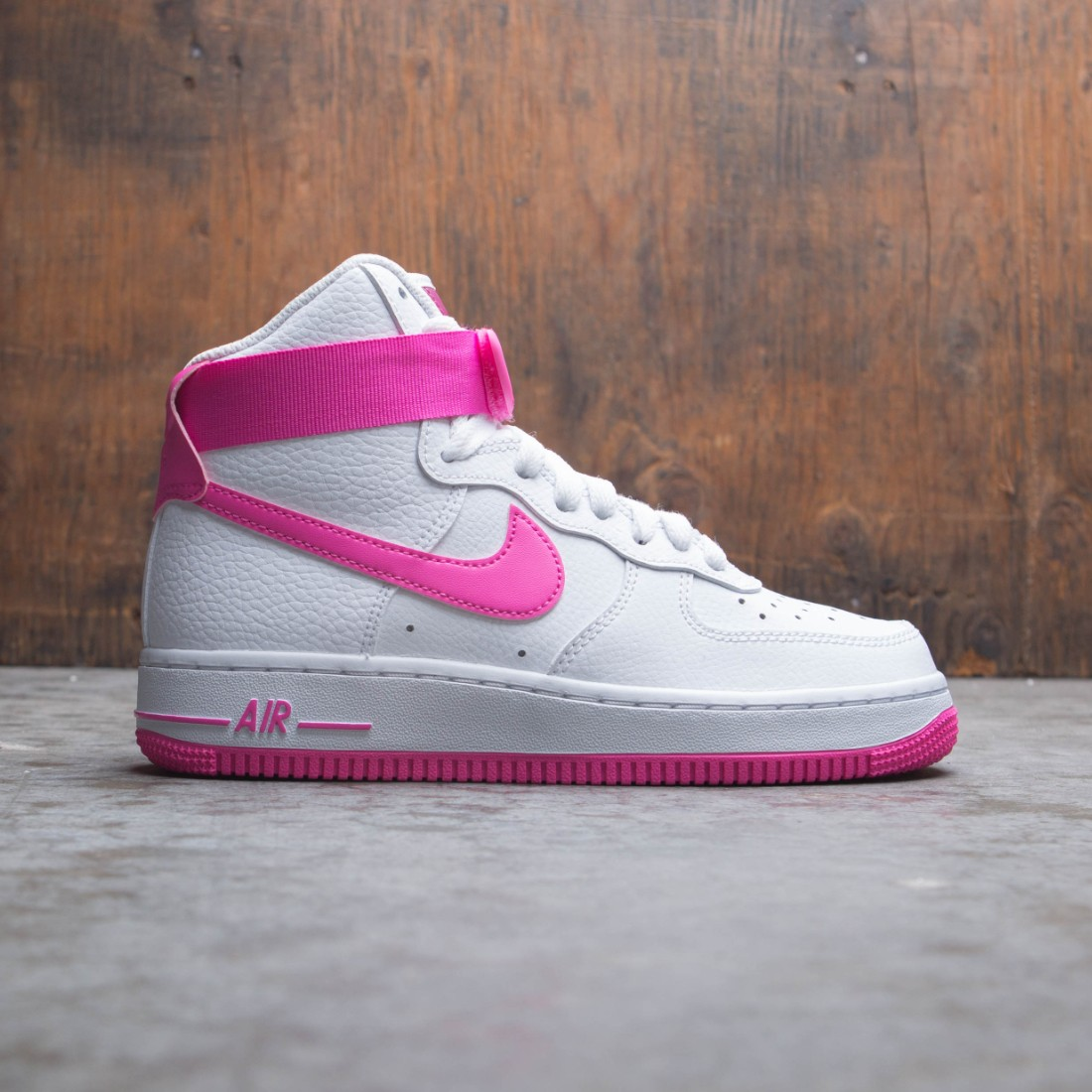 Nike Women Air Force 1 High White Laser Fuchsia True Berry