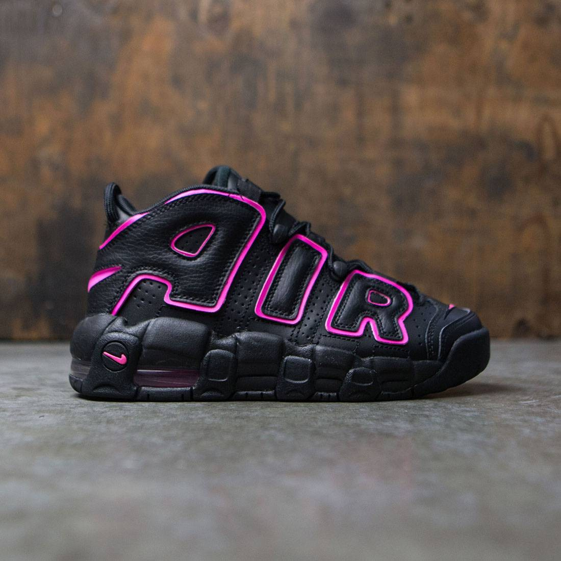 more photos b278d 86adf nike big kids nike air more uptempo gs black pink blast