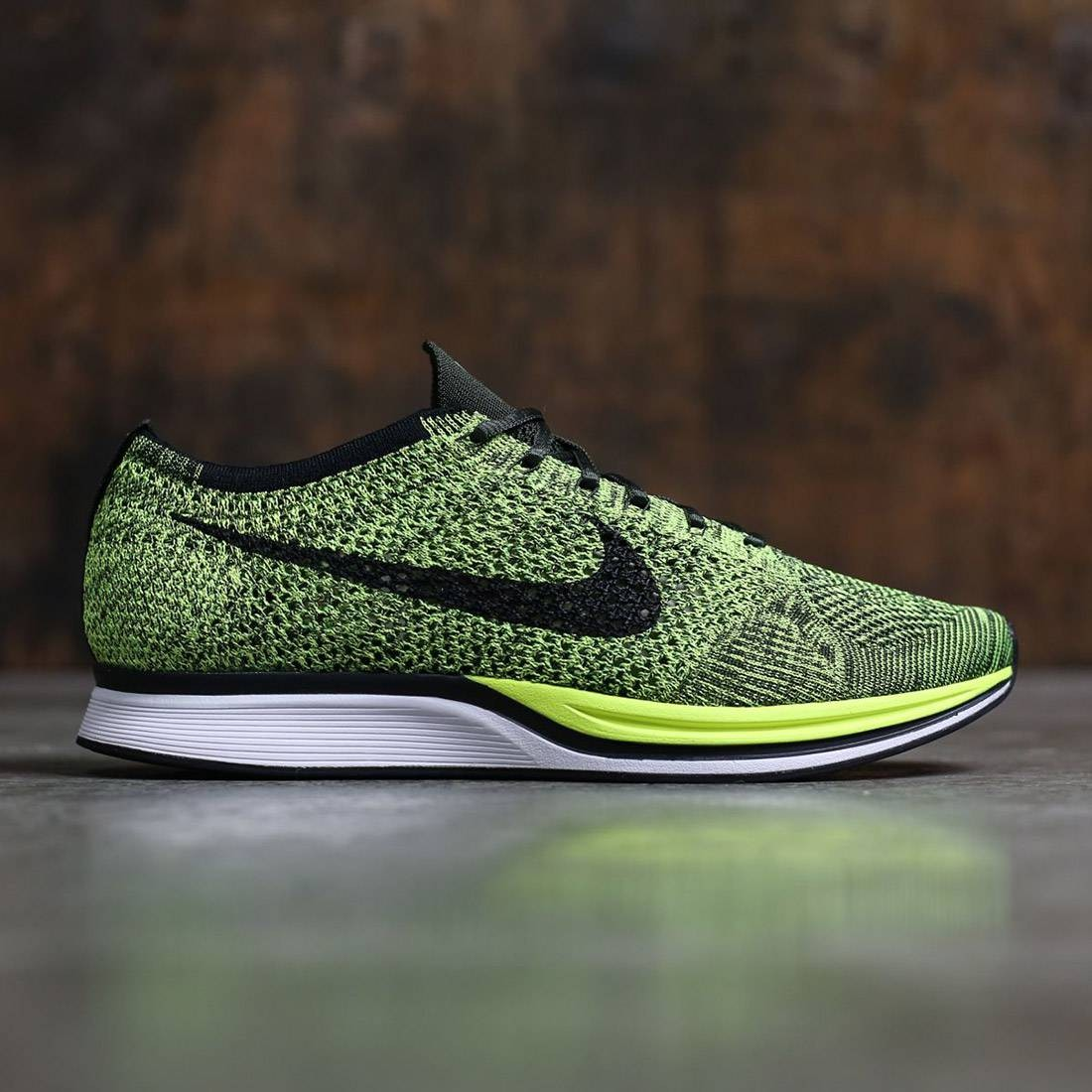 outlet store f58f0 6a19d Nike Men Flyknit Racer (volt   black-sequoia)