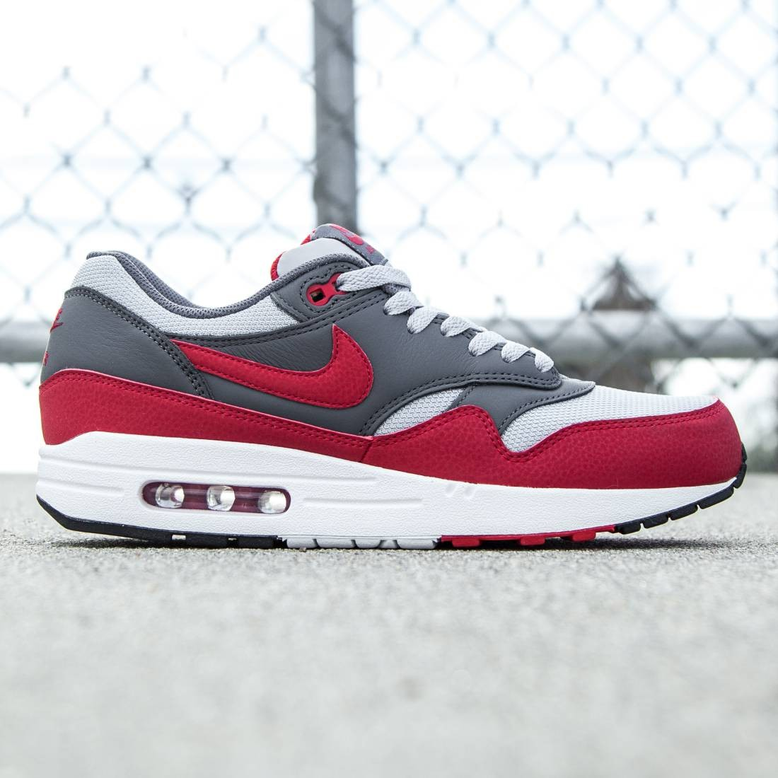 online store 03e6f a2f97 ... sweden nike men air max 1 essential gray wolf grey dark grey white gym  red 55e6b