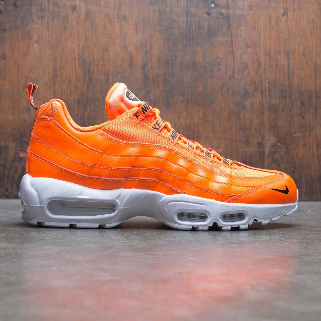 1cebb85bc750 nike men air max 95 premium total orange black white