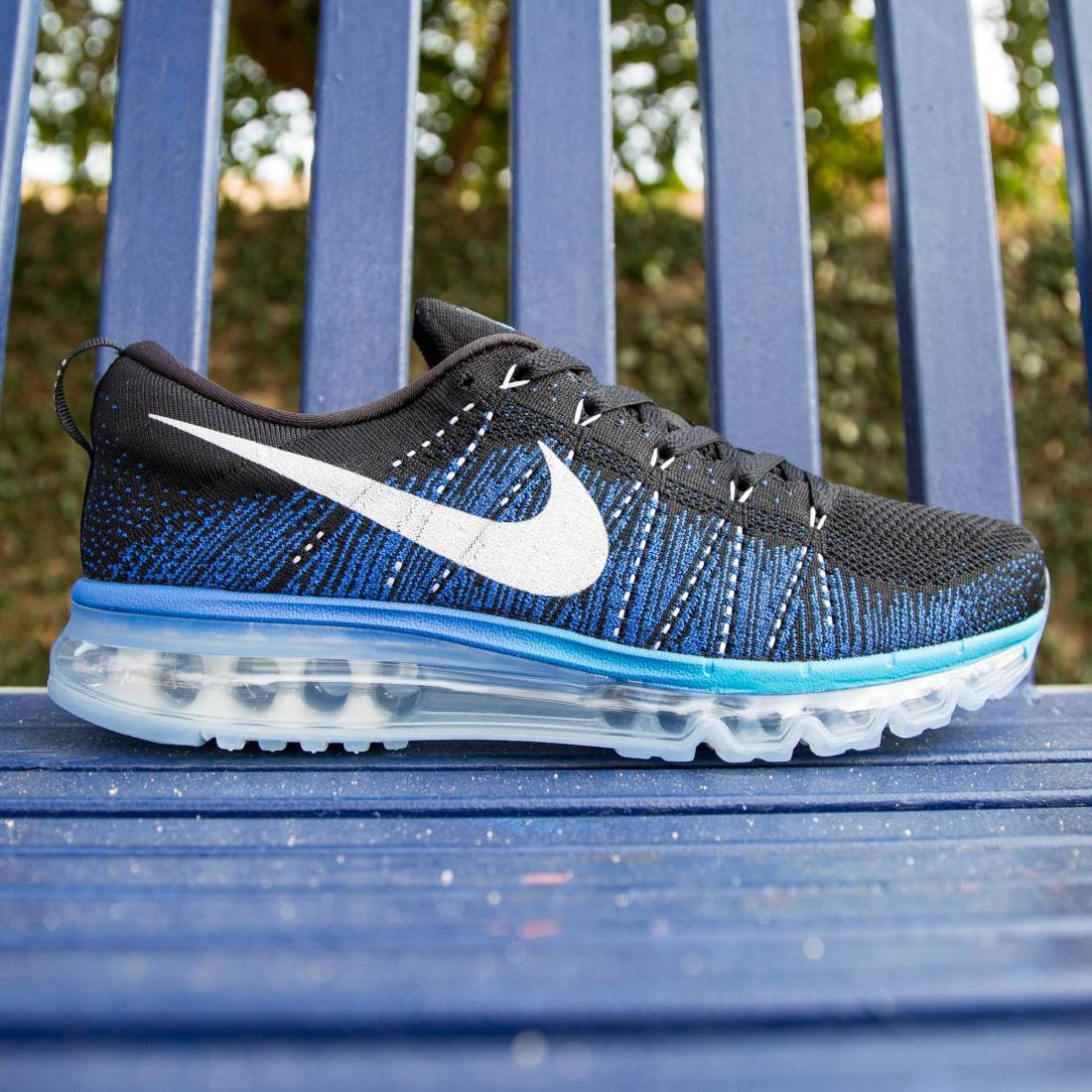43fd94c365eb ... discount nike men flyknit max black white game royal blue lagoon 62d27  ba4fd