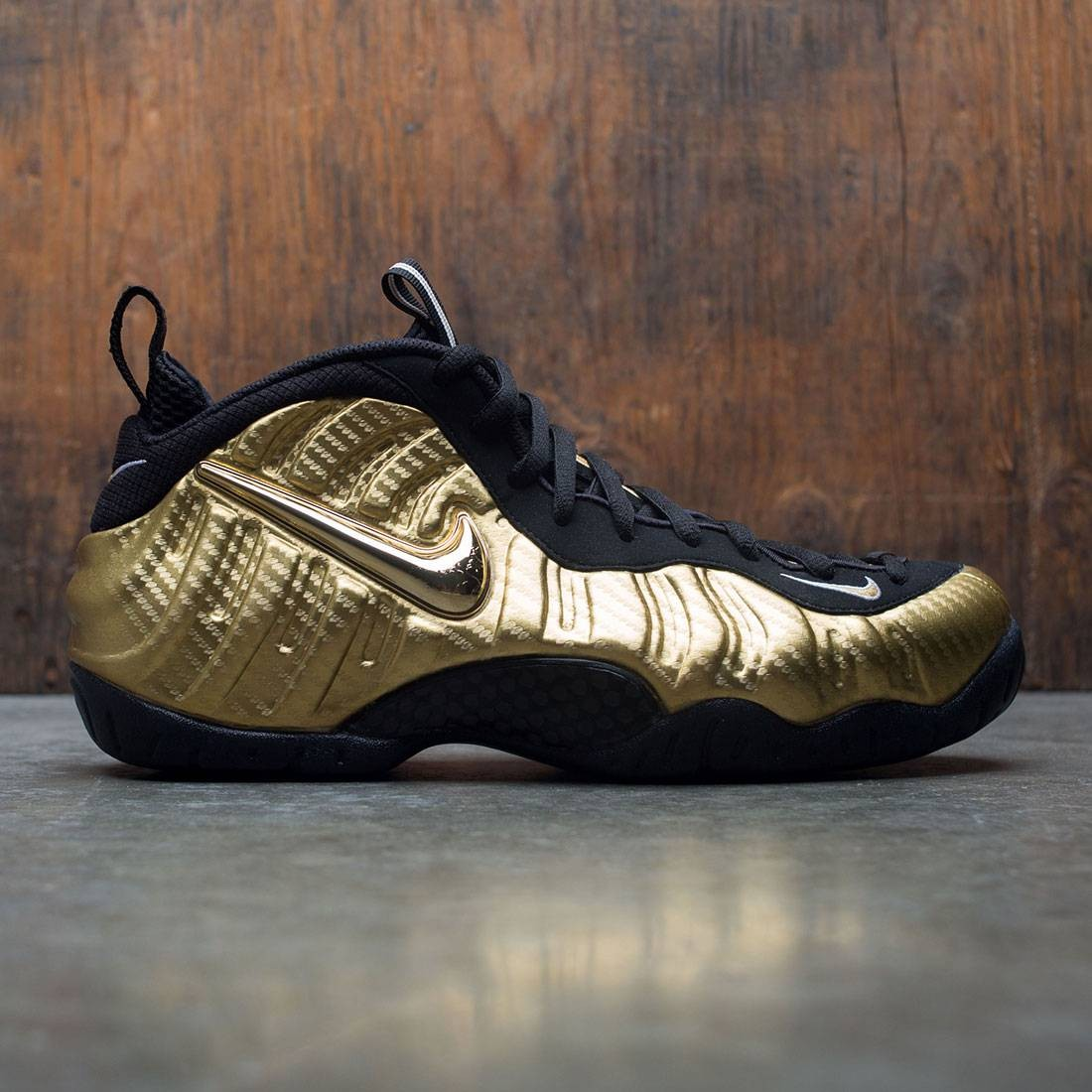 brand new e454a 47d5a nike men air foamposite pro yellow metallic gold black black white