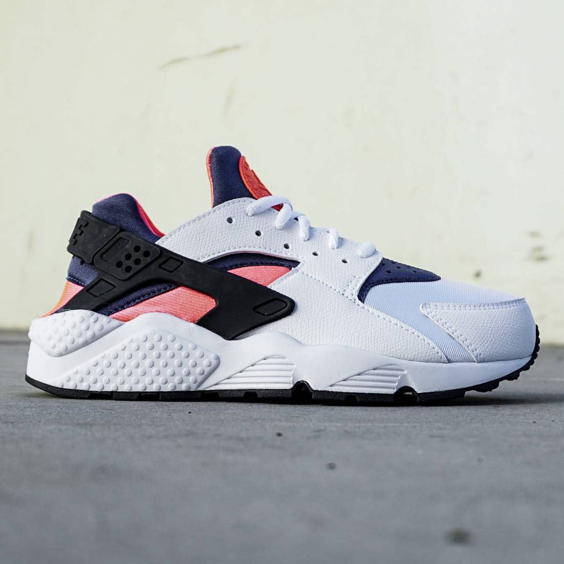 Nike Women Huarache Run (white / navy / orange)