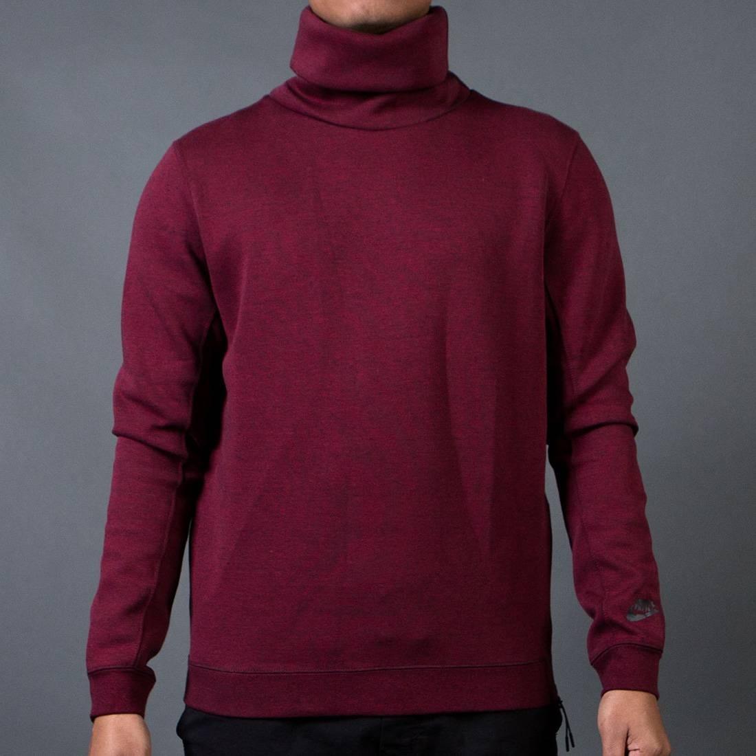 Nike Men Tech Fleece Funnel Sweatshirt (red / team red / black / heather / black)
