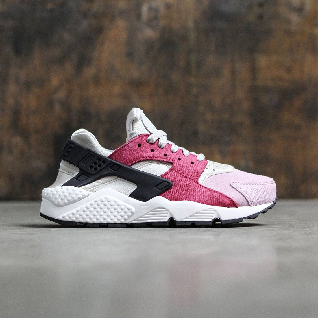 Nike Women Women'S Nike Air Huarache Run Premium (light bone black noble red plum fog)