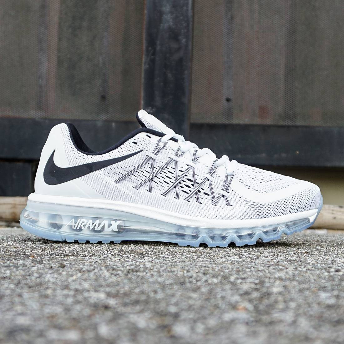 e082005b134 Nike Men Air Max 2015 white silver black