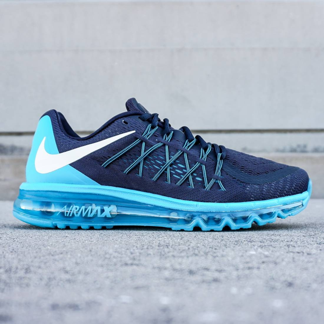 best website d1383 b1b45 Nike Men Air Max 2015 gray dark obsidian white blue lagoon
