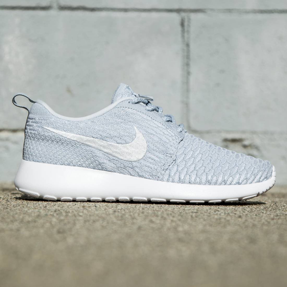 sports shoes d8ee0 edd6d Nike Women Rosherun Flyknit blue light armory blue pure platinum white