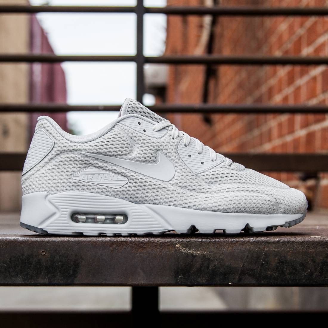 f568f6a305 Nike Men Air Max 90 Ultra BR (pure platinum/pure platinum/total crimson/pure  platinum)