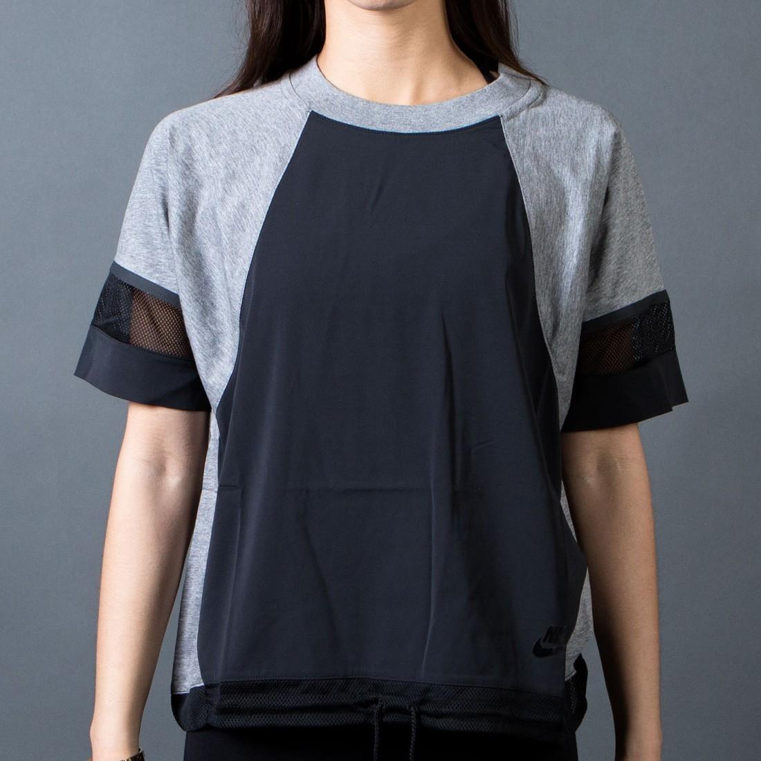 Nike Women Bonded Tee (black / carbon heather / black)