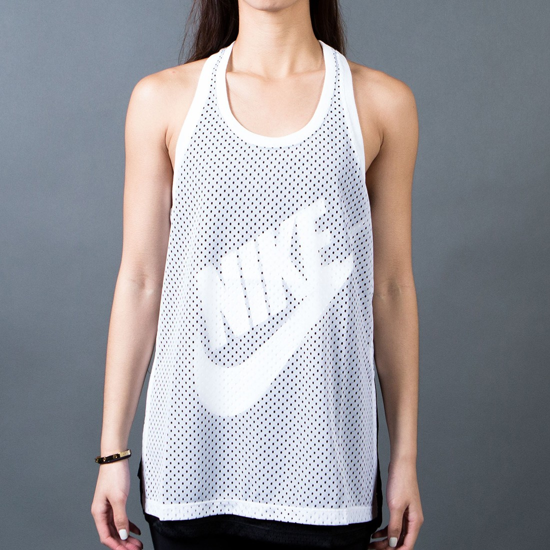Nike Women Mesh Tank Top (white / black / black / white)